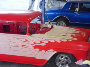 Custom Flam Job 1955 Belair